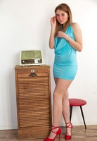 Keira Blue strips naked in high heels and glasses for Femjoy - 2 of 12