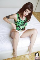 Wide eyed beauty Bastat getting stoned in erotic pics - 2 of 12